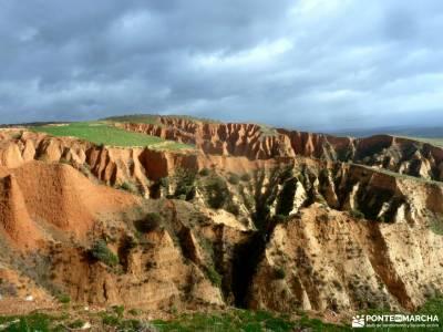 Cárcavas de Patones y Cerro Negro; excursiones valle de aran definicion de senderismo viajes en gru